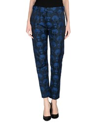 Soho De Luxe Trousers Casual Trousers Women Dark Blue