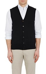 Piattelli Men's V Neck Sweatervest Black