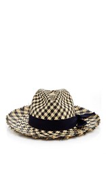 Sensi Studio Two Toned Houndstooth Panama Hat Print