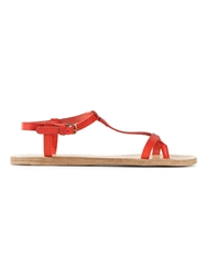N.D.C. Made By Hand T Bar Flat Sandals Red
