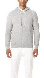 Club Monaco Terry Full Zip Hoodie Medium Grey