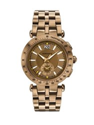 Versace V Race Sport Bronze Tone Stainless Steel Bracelet Chronograph Watch