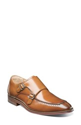 Stacy Adams 'S Baldwin Double Monk Strap Slip On Tan Leather
