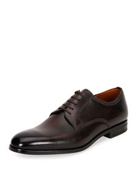 Bally Latour Classic Leather Derby Shoes Brown