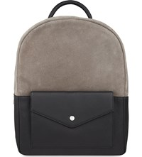 Reiss Bolton Leather Backpack Black