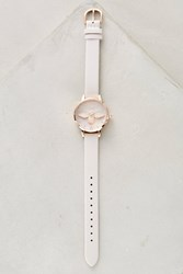 Anthropologie Tove Leather Bee Watch White