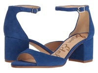 Sam Edelman Susie Nautical Blue Kid Suede Leather Women's Shoes