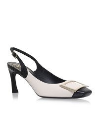 Roger Vivier Sling Back Cut Trompette Pumps Female Black