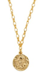 Kenneth Jay Lane Coin Pendant Necklace Gold