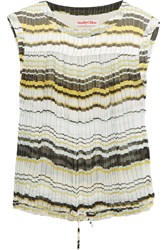 See By Chloe Striped Chiffon Top Yellow