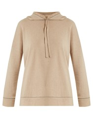 Morpho Luna Polly Hooded Cashmere Sweatshirt Beige