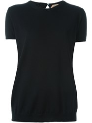 N 21 No21 Rear Keyhole Knit Top Black