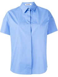 Jil Sander Shortsleeved Shirt Blue