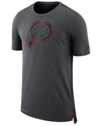 Nike Men's Washington Redskins Travel Mesh T Shirt Anthracite