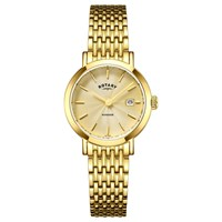 Rotary Lb05303 03 Women's Windsor Date Bracelet Strap Watch Gold