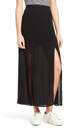 Love Fire Women's Slit Maxi Skirt