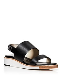 Matt Bernson Wedge Slingback Sandals Moderna Flatbed
