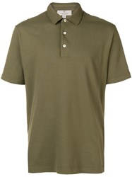 Canali Slim Fit Polo Shirt Green