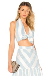 Paper London X Revolve Palmera Top Baby Blue