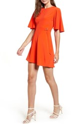 Topshop Cutabout Minidress Orange