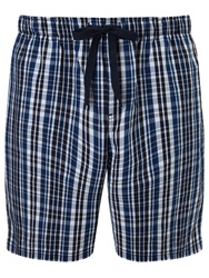 John Lewis Andrew Check Lounge Shorts Blue Black