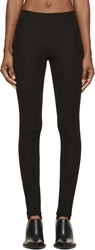 Maison Martin Margiela Black Viscose Cr Pe Jersey Stirrup Leggings