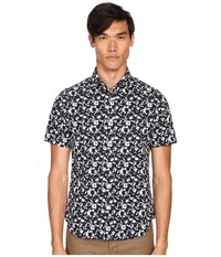 Jack Spade Clift Short Sleeve Splatter Print Shirt Navy Men's Short Sleeve Button Up