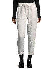Saks Fifth Avenue Solid Linen Pants White