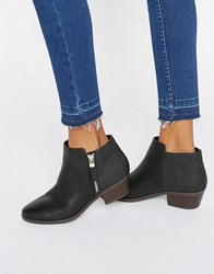 Call It Spring Gunson Zip Ankle Boots Black Synthetic