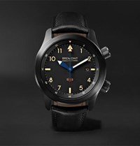 Bremont U 2 51 Jet Automatic 43Mm Stainless Steel And Leather Watch Black