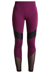 Evenandodd Active Tights Dark Purple