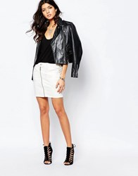 G Star G Star Lynn Zip Front Denim Skirt White