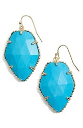 Kendra Scott Women's 'Corley' Faceted Stone Drop Earrings Gold Turquoise
