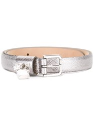 Dolce And Gabbana Padlock Belt Grey