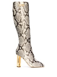Dsquared2 Snakeskin Effect Boots Neutrals
