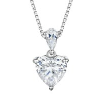 Jools By Jenny Brown Cubic Zirconia Heart Pendant Necklace Silver