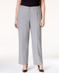 Kasper Plus Size Trousers Grey Black