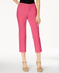 Charter Club Petite Bristol Capri Jeans Only At Macy's Glamour Pink