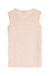 Bailey 44 Sleeveless Top With Lace Pink
