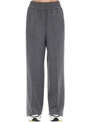 Agnona Wool And Cashmere Flannel Pants Light Grey