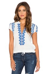 Spell And The Gypsy Collective Santorini Embroidered Blouse White