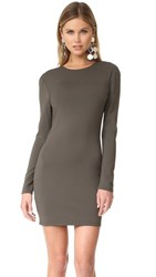 Bec And Bridge Long Sleeve Reversible Mini Dress Olive