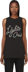 3.1 Phillip Lim Black Studded 'Lights Out' Tank Top