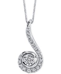 Sirena Energy Diamond Spiral Pendant Necklace 1 2 Ct. T.W. In 14K White Gold No Color