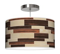 Jefdesigns Tile 4 Pendant Jd_Tile4_Oak Ebony White Oak And Ebony Thao16 16 In Diameter Brown
