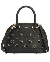 Dkny Round Pearl Small Satchel Created For Macy's Black