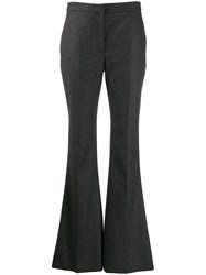 Alexander Mcqueen Flared Mid Rise Trousers Grey