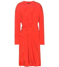 Isabel Marant Dias Silk And Wool Blend Wrap Style Dress Red