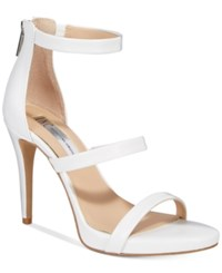 Inc International Concepts Sadiee Strappy Dress Sandals Only At Macy's Women's Shoes Bright White