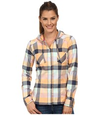 Mountain Hardwear Stretchstone Flannel Long Sleeve Shirt Peach Women's Long Sleeve Button Up Orange